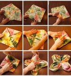 آموزش مدل های زیبا برای تزیین دستمال سفره